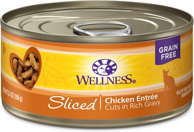 Wellness Complete Health Sliced Chicken Entree Canned Cat Food, 5.5-oz, case of 24