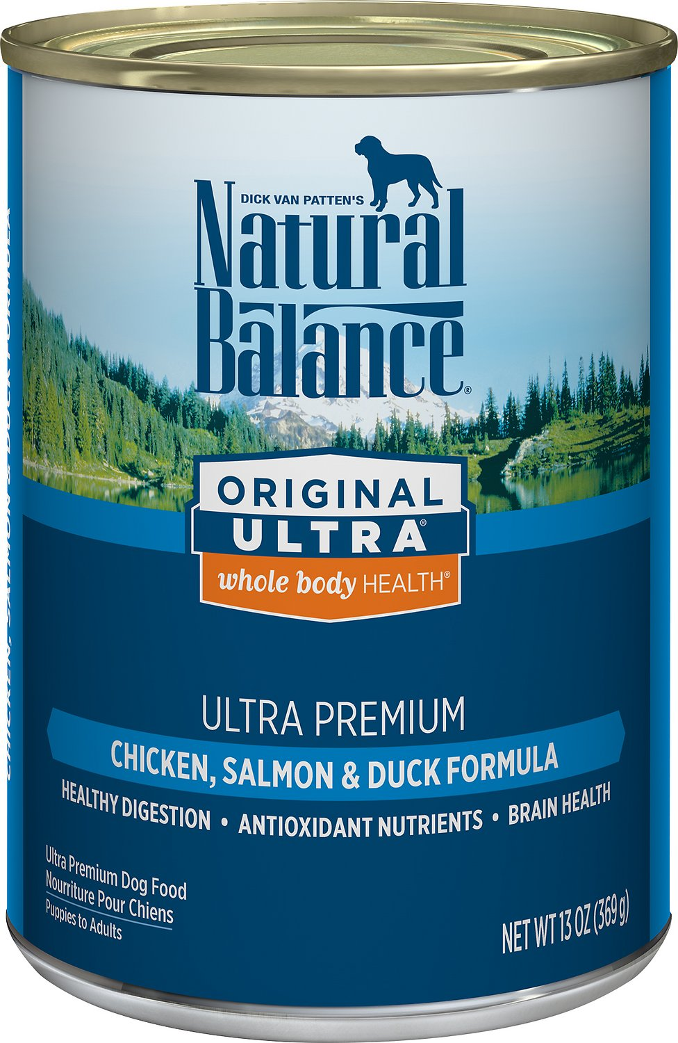 Natural Balance Original Ultra Premium Whole Body Health Chicken, Salmon & Duck Formula Canned Dog Food, 13-oz