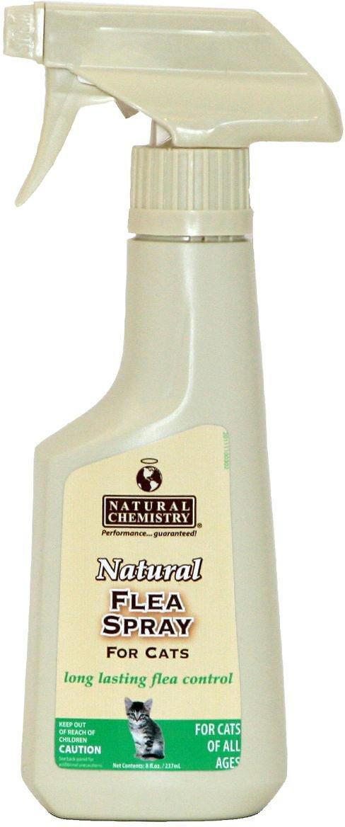Natural Chemistry Natural Flea Spray for Cats, 8-oz, spray