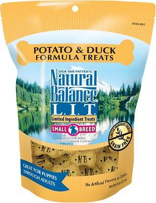 Natural Balance L.I.T. Limited Ingredient Treats Potato & Duck Formula Dog Treats, Small Breeds, 8-oz