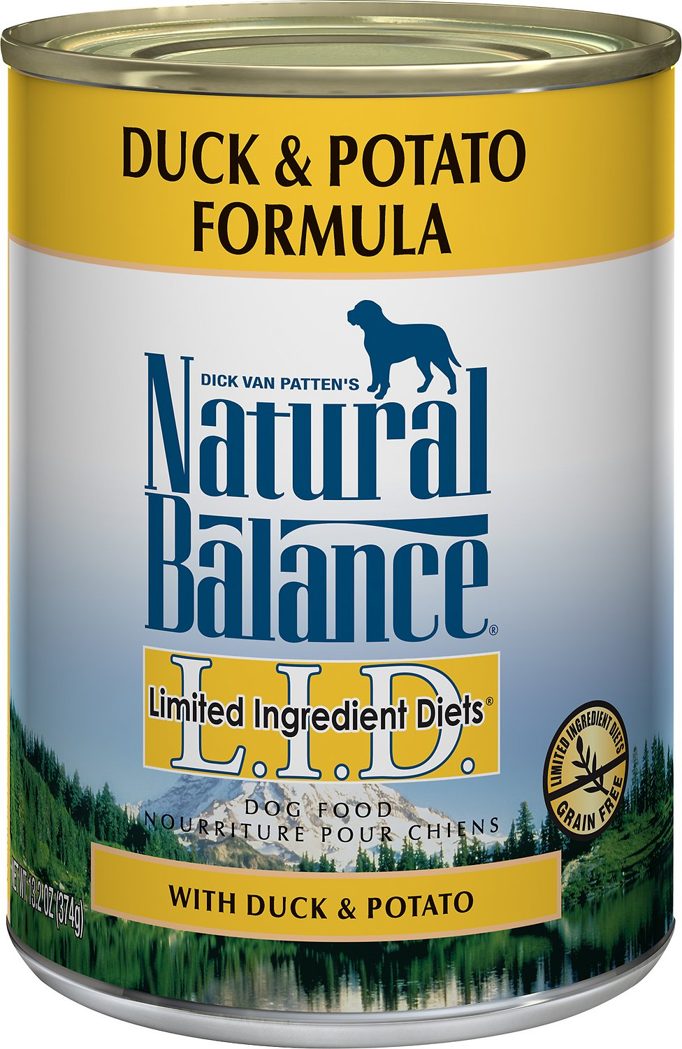 Natural Balance L.I.D. Limited Ingredient Diets Duck & Potato Formula Grain-Free Canned Dog Food Image