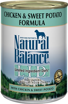Natural Balance L.I.D. Limited Ingredient Diets Chicken & Sweet Potato Formula Grain-Free Canned Dog Food, 13-oz, case of 12
