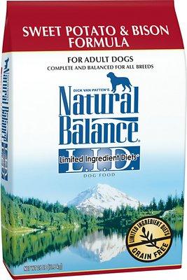 Natural Balance L.I.D. Limited Ingredient Diets Sweet Potato & Bison Formula Grain-Free Dry Dog Food, 26-lb bag