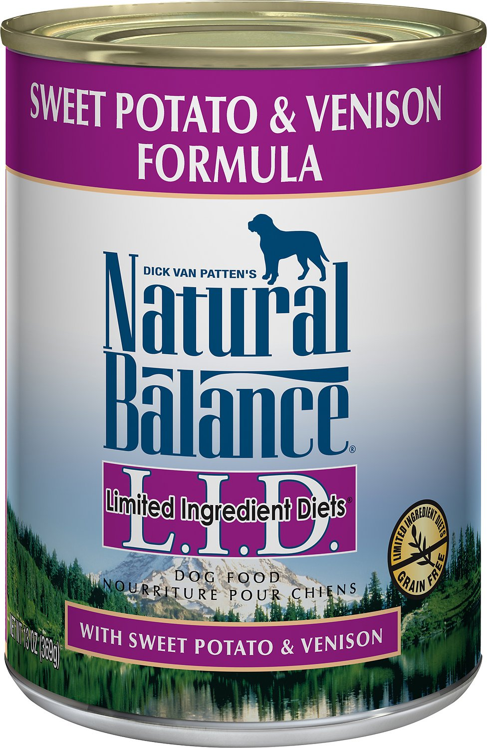 Natural Balance L.I.D. Limited Ingredient Diets Sweet Potato & Venison Formula Grain-Free Canned Dog Food, 13-oz