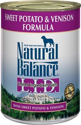 Natural Balance L.I.D. Limited Ingredient Diets Sweet Potato & Venison Formula Grain-Free Canned Dog Food, 13-oz, case of 12