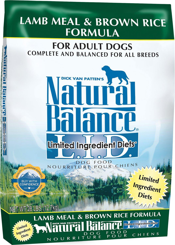 Natural Balance L.I.D. Limited Ingredient Diets Lamb Meal & Brown Rice Formula Dry Dog Food, 4-lb