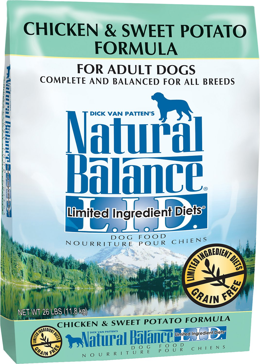 Natural Balance L.I.D. Limited Ingredient Diets Chicken & Sweet Potato Formula Grain-Free Adult Dry Dog Food, 12-lb