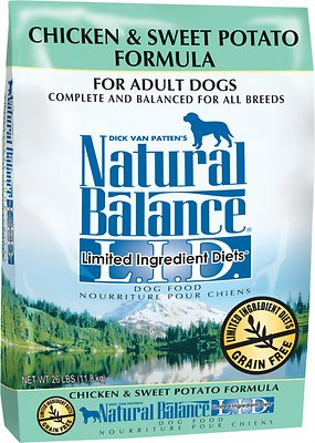 Natural Balance L.I.D. Limited Ingredient Diets Chicken & Sweet Potato Formula Grain-Free  Adult Dry Dog Food, 26-lb bag