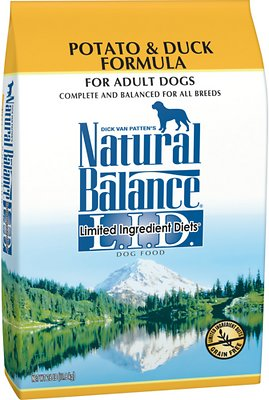 Natural Balance L.I.D. Limited Ingredient Diets Potato & Duck Formula Grain-Free Dry Dog Food, 26-lb bag