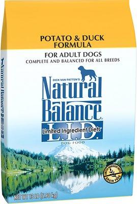 Natural Balance L.I.D. Limited Ingredient Diets Potato & Duck Formula Grain-Free Dry Dog Food, 13-lb bag