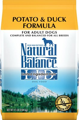 Natural Balance L.I.D. Limited Ingredient Diets Potato & Duck Formula Grain-Free Dry Dog Food, 4.5-lb bag