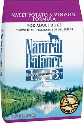 Natural Balance L.I.D. Limited Ingredient Diets Sweet Potato & Venison Formula Grain-Free Dry Dog Food, 13-lb bag