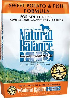 Natural Balance L.I.D. Limited Ingredient Diets Sweet Potato & Fish Formula Adult Grain-Free Dry Dog Food, 26-lb bag