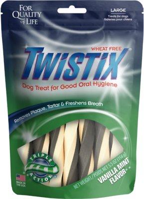 N-Bone Twistix Vanilla Mint Dog Treats, Large