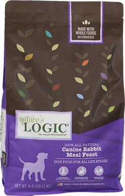 Nature's Logic Canine Rabbit Meal Feast Dry Dog Food, 4.4-lb bag