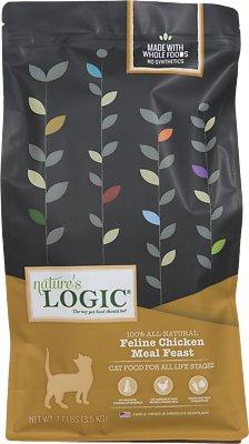 Nature's Logic Feline Chicken Meal Feast Dry Cat Food, 7.7-lb bag