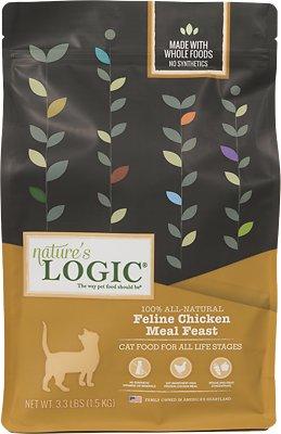 Nature's Logic Feline Chicken Meal Feast Dry Cat Food, 3.3-lb bag