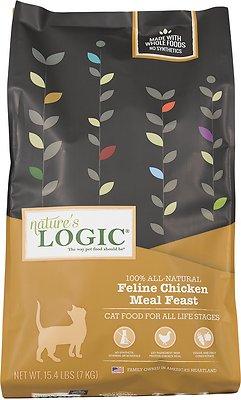 Nature's Logic Feline Chicken Meal Feast Dry Cat Food, 15.4-lb bag