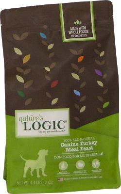 Nature's Logic Canine Turkey Meal Feast Dry Dog Food, 4.4-lb bag