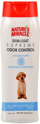 Nature's Miracle Supreme Odor Control Natural Puppy Shampoo & Conditioner, 16-oz bottle