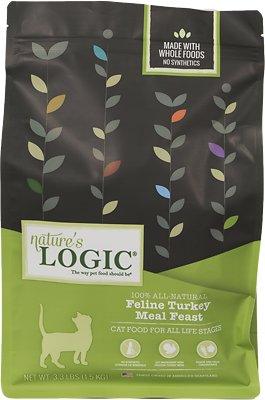 Nature's Logic Feline Turkey Meal Feast Dry Cat Food, 3.3-lb bag
