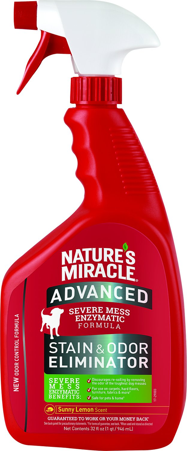 Nature's Miracle Dog Advanced Stain & Odor Remover Spray Sunny Lemon, 32-oz bottle (Weights: 2.4pounds) Image