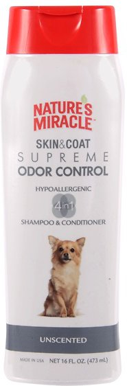 Nature's Miracle Dog Supreme Odor Control Hypoallergenic Dog Shampoo & Conditioner, 16-oz bottle