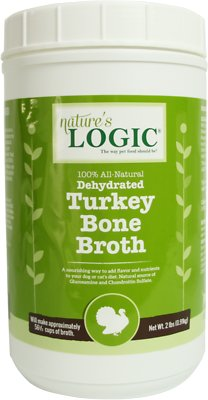 Nature's Logic Dehydrated Turkey Bone Broth Dog & Cat Supplement, 2-lb tub
