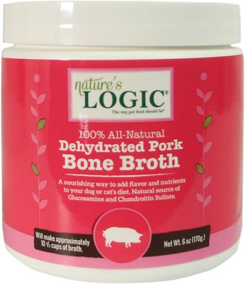 Nature's Logic Dehydrated Pork Bone Broth Dog & Cat Supplement, 6-oz tub