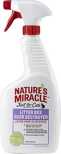 Nature's Miracle Just For Cats Litter Box Odor Destroyer Spray, 24-oz spray Image