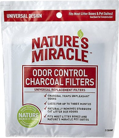 Nature's Miracle Just For Cats Odor Control Universal Charcoal Filter, 2-pack Image