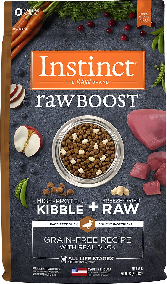 Instinct by Nature's Variety Raw Boost Grain-Free Recipe with Real Duck Dry Dog Food Image