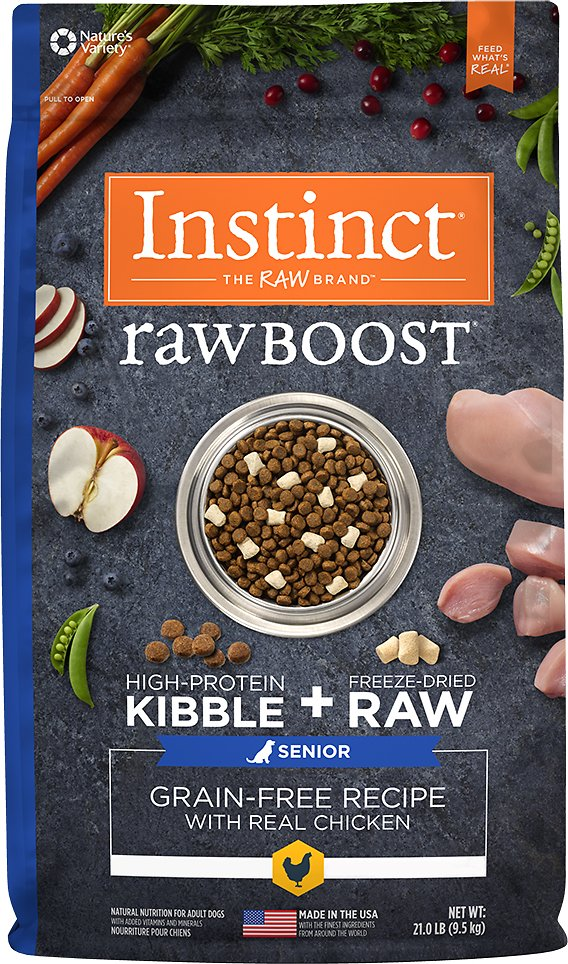 Instinct by Nature's Variety Raw Boost Senior Grain-Free Recipe with Real Chicken Dry Dog Food Image