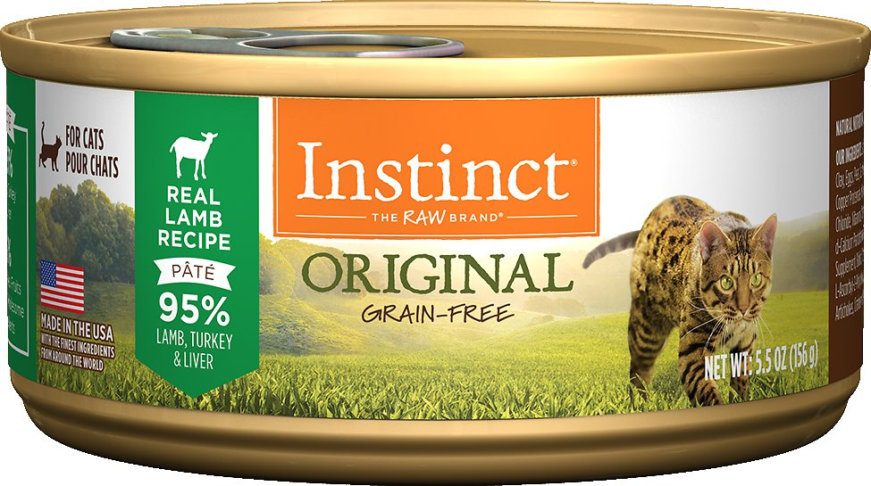Instinct by Nature's Variety Original Grain-Free Real Lamb Recipe Natural Wet Canned Cat Food, 5.5-oz