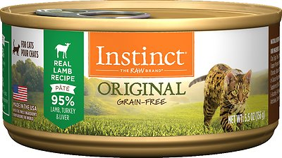 Instinct by Nature's Variety Original Grain-Free Real Lamb Recipe Natural Wet Canned Cat Food, 5.5-oz, case of 12