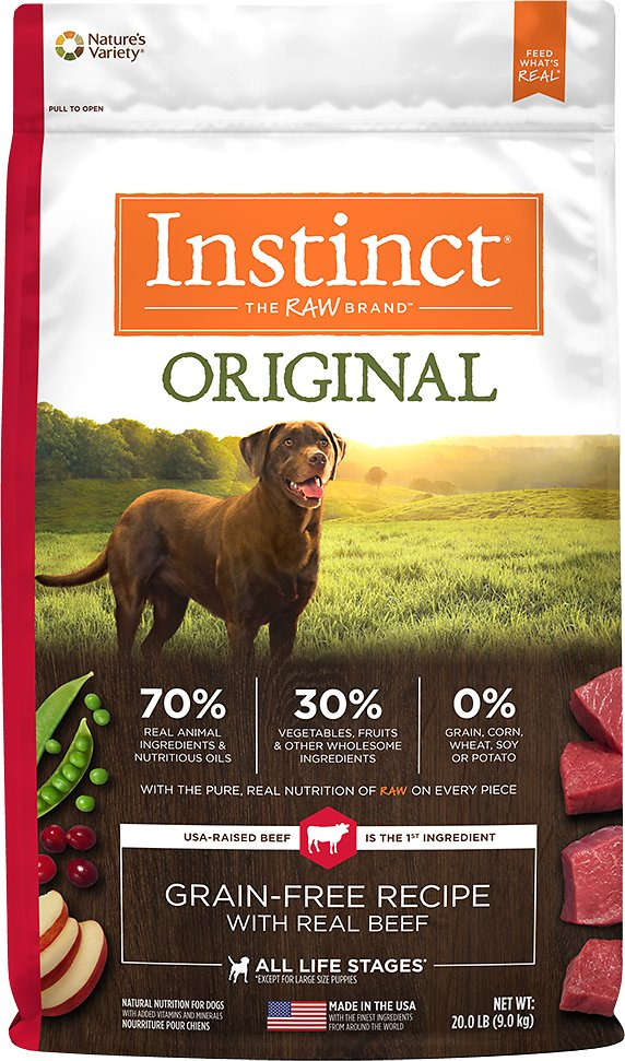 Instinct by Nature's Variety Original Grain-Free Recipe with Real Beef Dry Dog Food Image