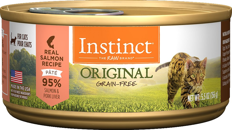 Instinct by Nature's Variety Original Grain-Free Real Salmon Recipe Natural Wet Canned Cat Food Image