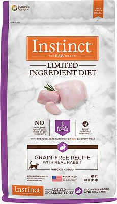 Instinct by Nature's Variety Limited Ingredient Diet Grain-Free Recipe with Real Rabbit Dry Cat Food, 10-lb bag