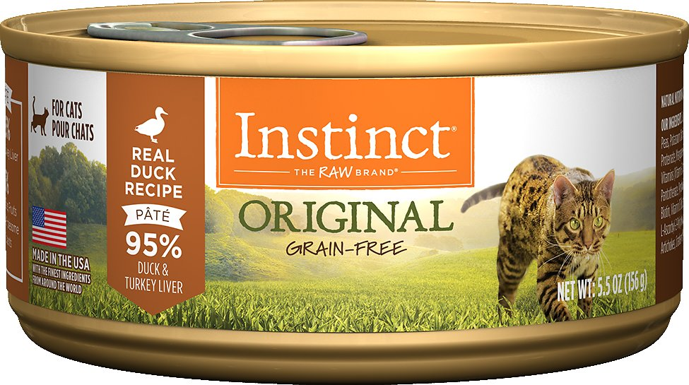 Instinct by Nature's Variety Original Grain-Free Real Duck Recipe Natural Wet Canned Cat Food, 5.5-oz