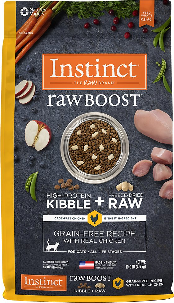 Instinct by Nature's Variety Raw Boost Grain-Free Recipe with Real Chicken Dry Cat Food Image