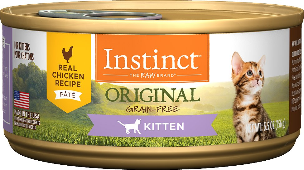 Instinct by Nature's Variety Kitten Grain-Free Real Chicken Recipe Natural Wet Canned Cat Food, 5.5-oz