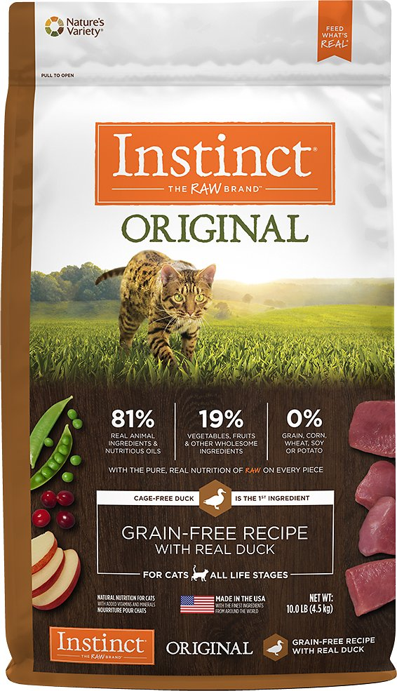 Instinct by Nature's Variety Original Grain-Free Recipe with Real Duck Dry Cat Food Image