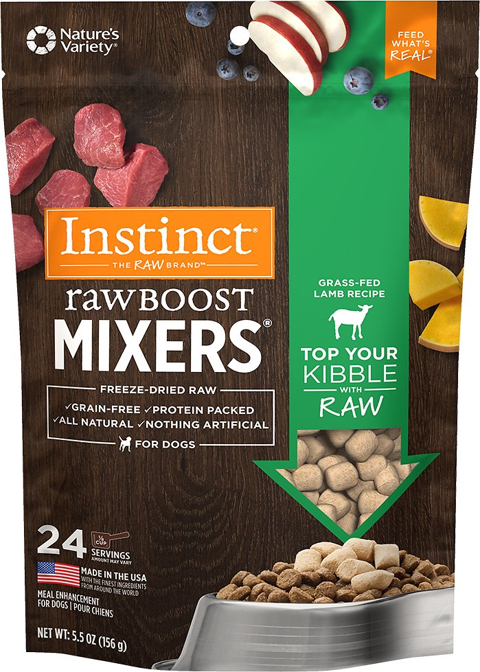 Instinct by Nature's Variety Raw Boost Mixers Lamb Recipe Freeze-Dried Dog Food Topper Image