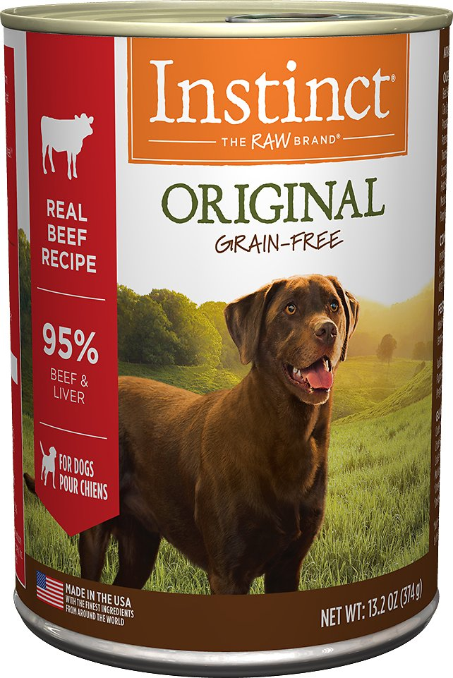 Instinct by Nature's Variety Original Grain-Free Real Beef Recipe Natural Wet Canned Dog Food Image