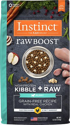 Instinct by Nature's Variety Raw Boost Puppy Grain-Free Recipe with Real Chicken Dry Dog Food, 4-lb bag