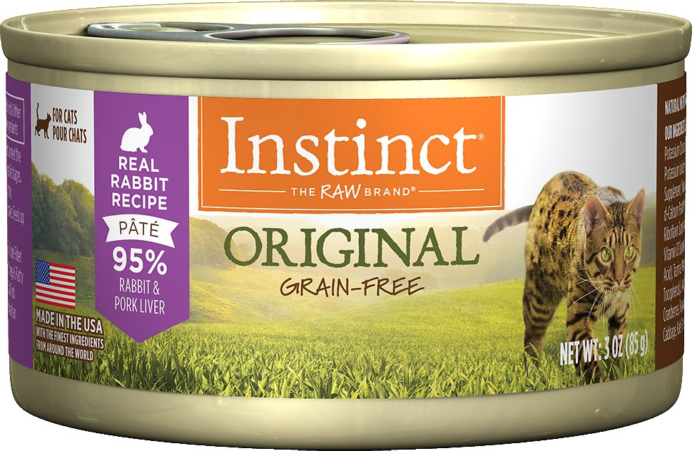 Instinct by Nature's Variety Original Grain-Free Real Rabbit Recipe Natural Wet Canned Cat Food Image