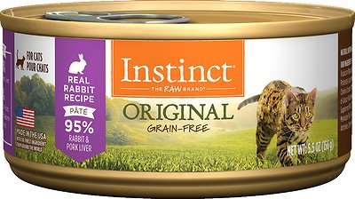 Instinct by Nature's Variety Original Grain-Free Real Rabbit Recipe Natural Wet Canned Cat Food, 5.5-oz, case of 12