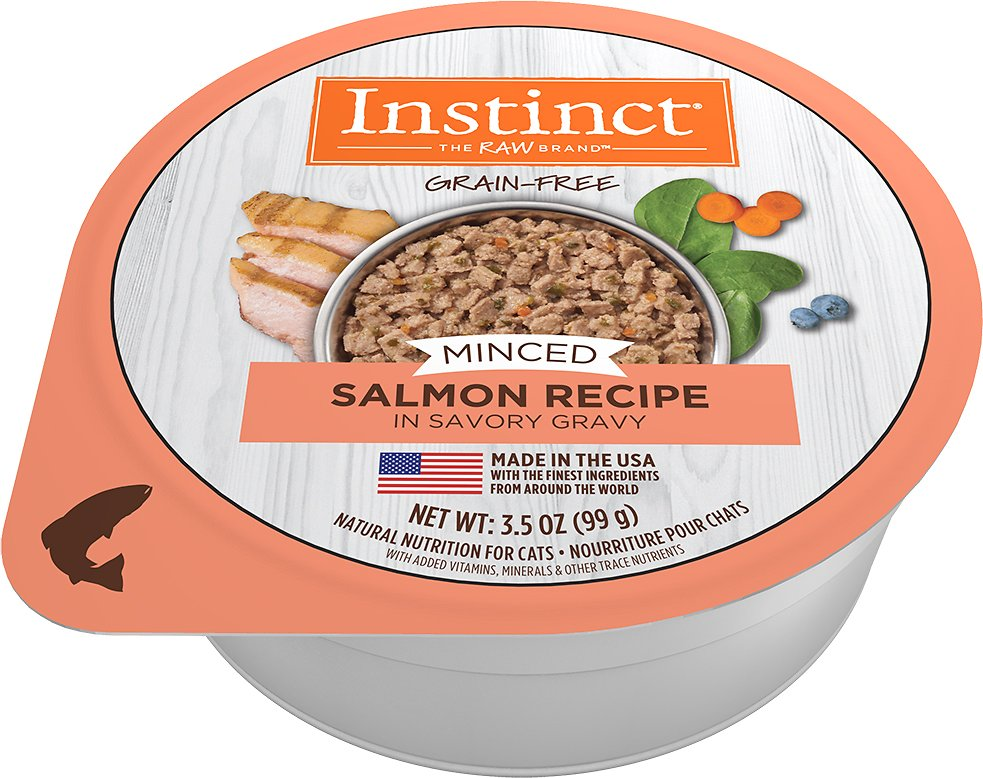 Instinct by Nature's Variety Grain-Free Minced Recipe with Real Salmon Wet Cat Food Cups Image