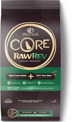 Wellness CORE RawRev Wild Game with Freeze Dried Lamb Dry Dog Food, 18-lb