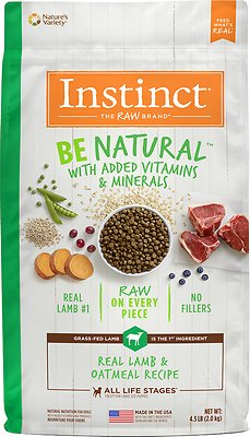 Instinct by Nature's Variety Be Natural Real Lamb & Oatmeal Recipe Dry Dog Food, 4.5-lb bag